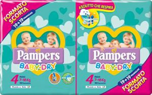 Pampers baby-dry duo dwct maxi